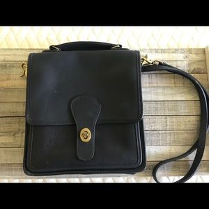Navy Vintage Coach Crossbody